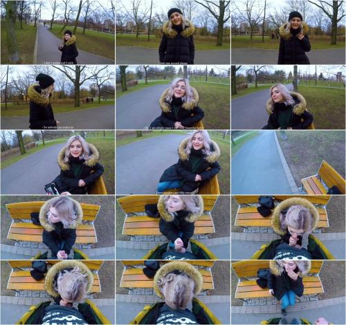 Eva Elfie - Cute Teen Swallows Cum for Cash - Public Blowjob in the Park by Eva Elfie [FullHD 1080P]