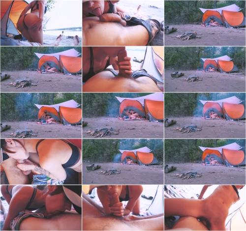 MilaGrace - Hot Girl Sucked a Fat Dick in Nature. Сhill, Blowjob, Bonfire [FullHD 1080P]