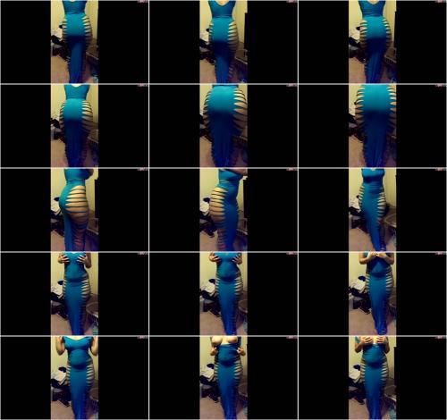 SinnlicheMona - Sinnliche Mona - Meine heissen Kurven im blauen Kleid [HD 720P]