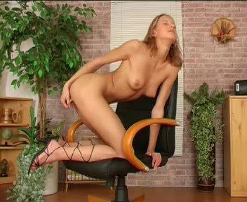 Julia Teases on the Chair