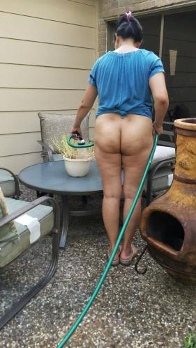bottomless in the backyard