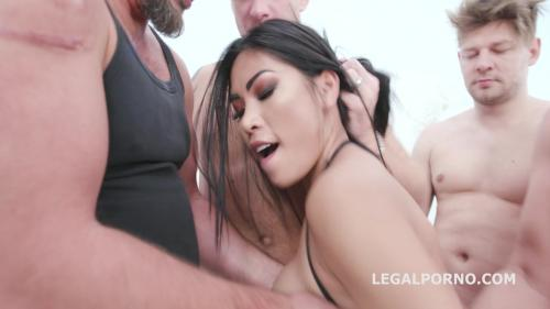 Lesson #5 Polly Pons gets it Balls Deep in all possible ways 5on1 Anal, DP, DAP, Gapes, Creampie Farts GIO1262 [HD 720P]