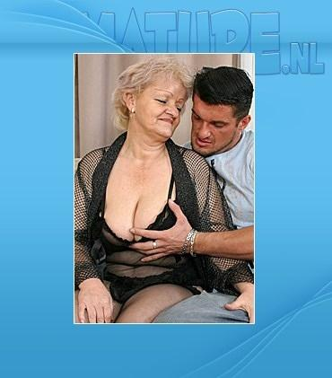 Mature - Ethel (65) - Kinky mama fucking and sucking her tits off