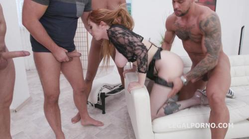 Manhandle, Lauren Phillips gets 4on1 rough sex with Balls Deep Anal, DAP, Gapes and Swallow GIO1270 [HD 720P]