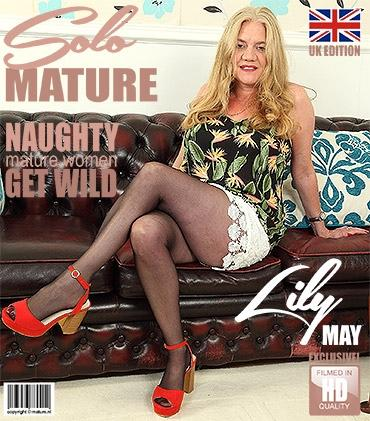 Mature - Lily May (EU) (49) - British big breasted temptress Lily May playing with herself