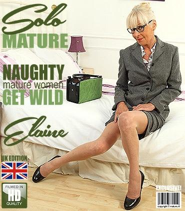 Mature - Elaine (EU) (61) - British mature lady Elaine playing in bed