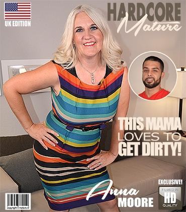 Mature - Anna Moore (43) - American curvy cougar doing her toyboy