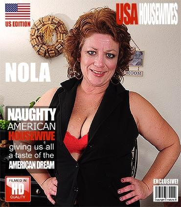 Mature - Nola D. (46) - American curvy mature lady pleasing herself when she's all alone at home
