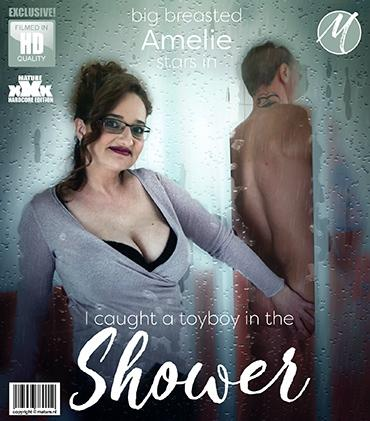 Mature - Ameli (43) - Big breasted mature Ameli found a toy boy in her shower. She instantly got wet and seduced him to blow of steam in the bathroom