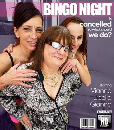 Mature - Gianna B. (34), Joella (53), Viana (54) - Three mature ladies turned their cancelled bingo night into an evening filled with naughty pleasures.