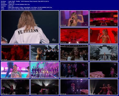 Taylor Swift Medley 2019 American Music Awards 720p Hdtv H 264 Hqcelebcorner